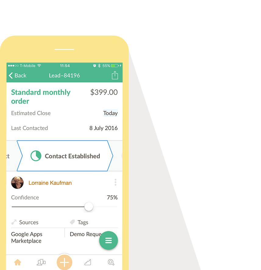 nutshell small business crm mobile