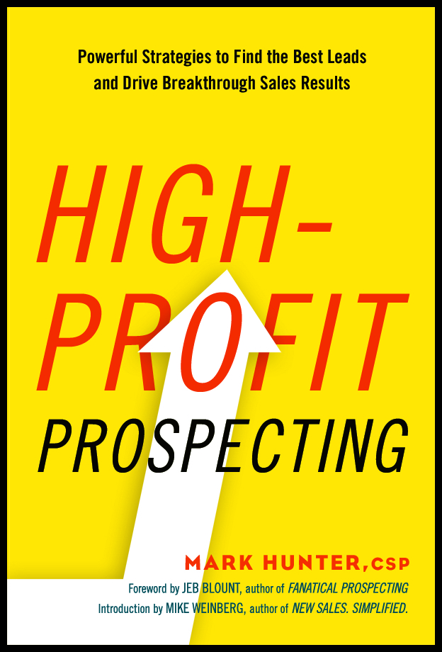 high profit prospecting mark hunter book cover prospect is wasting your time