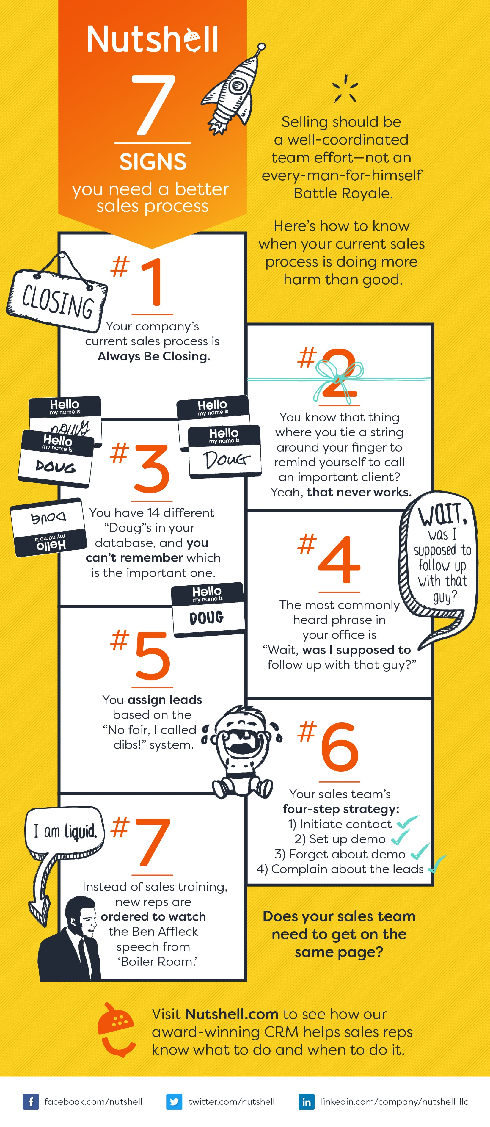 7 signs you need a better sales process infographic