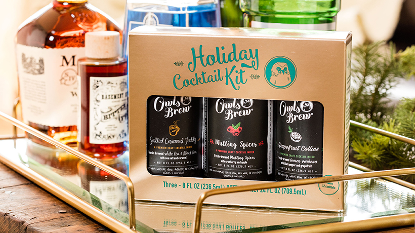 nutshell last-minute holiday gift guide owl's brew holiday cocktail kit