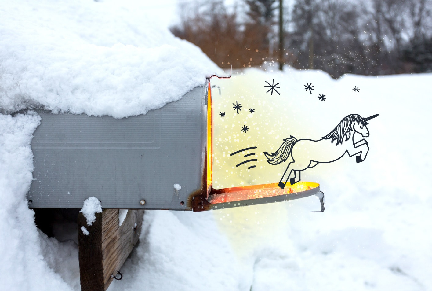 best cold emails ever unicorn mailbox