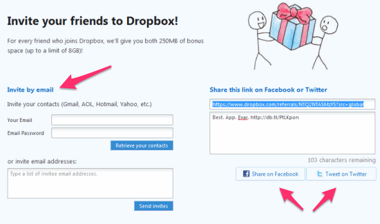 dropbox b2b referral example