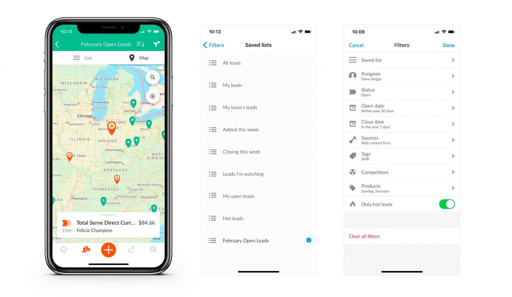 nutshell iphone app maps saved lists and filters